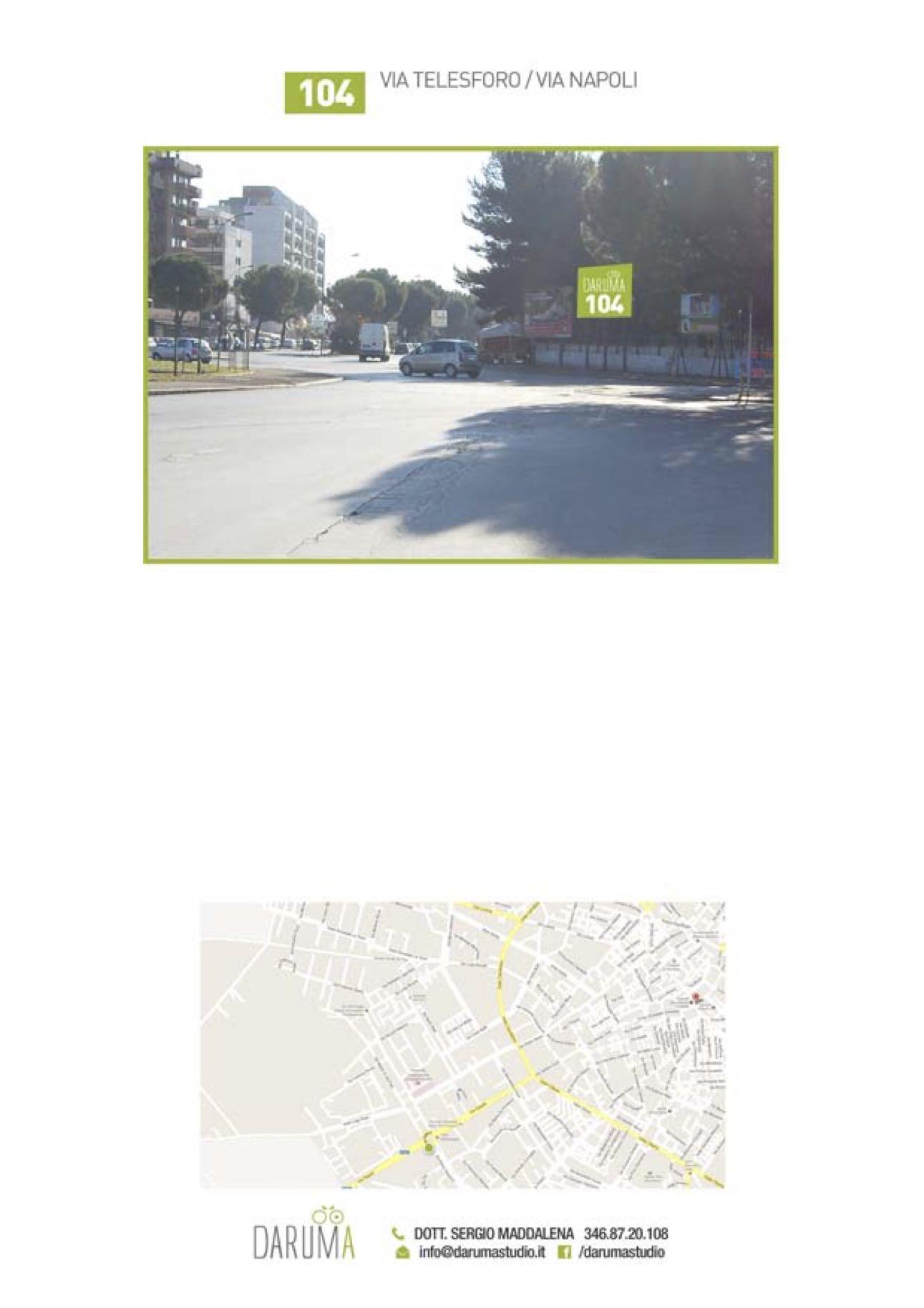 6x3 monofacciale alla Rotonda di Via Napoli