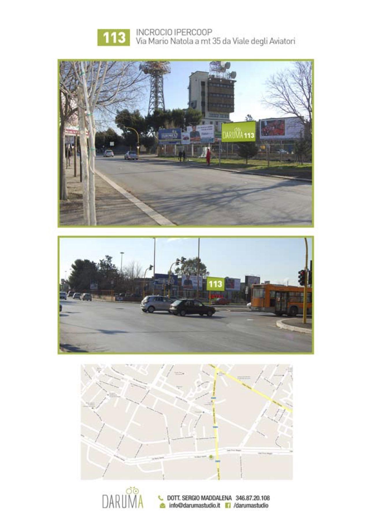 6x3 Monofacciale Via Natola, incrocio Ipercoop