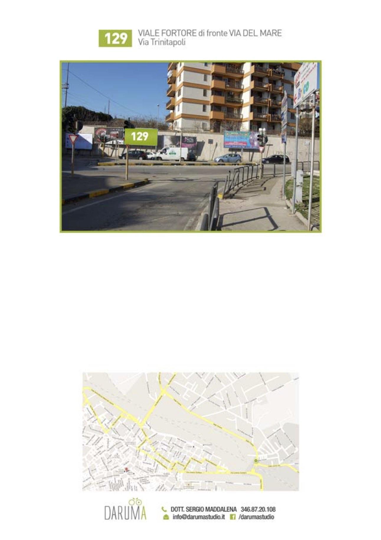 6x3 Viale Fortore fronte semaforo Via Leone XIII