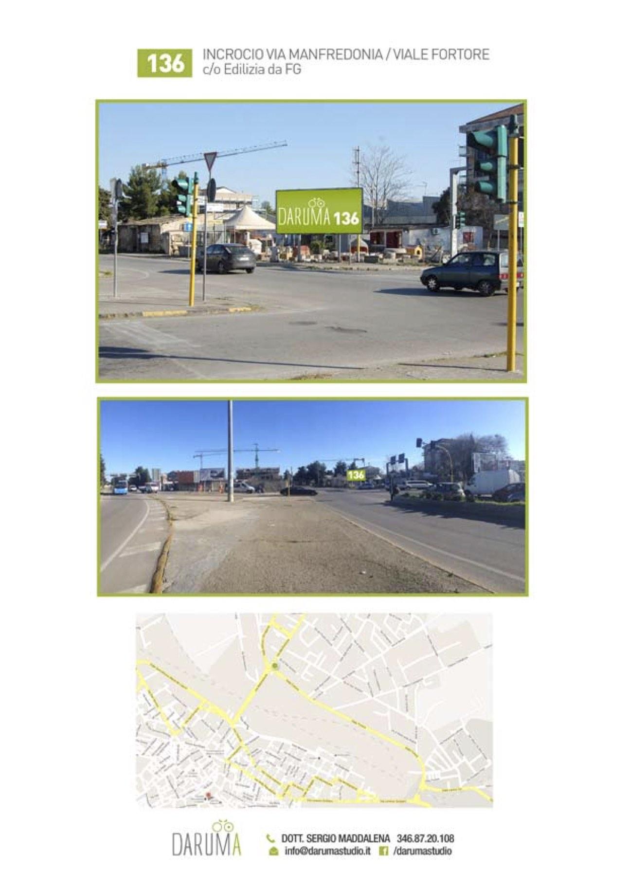 6x3 fronte semaforo Via Manfredonia uscita città