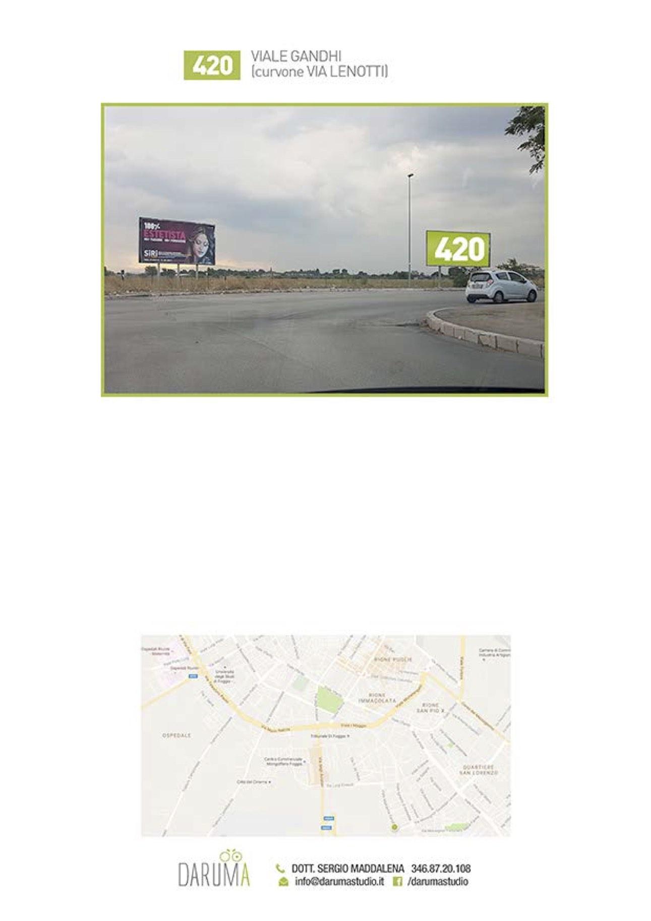 6x3 Macchia Gialla curvone Via Gandhi/Via LeNotti