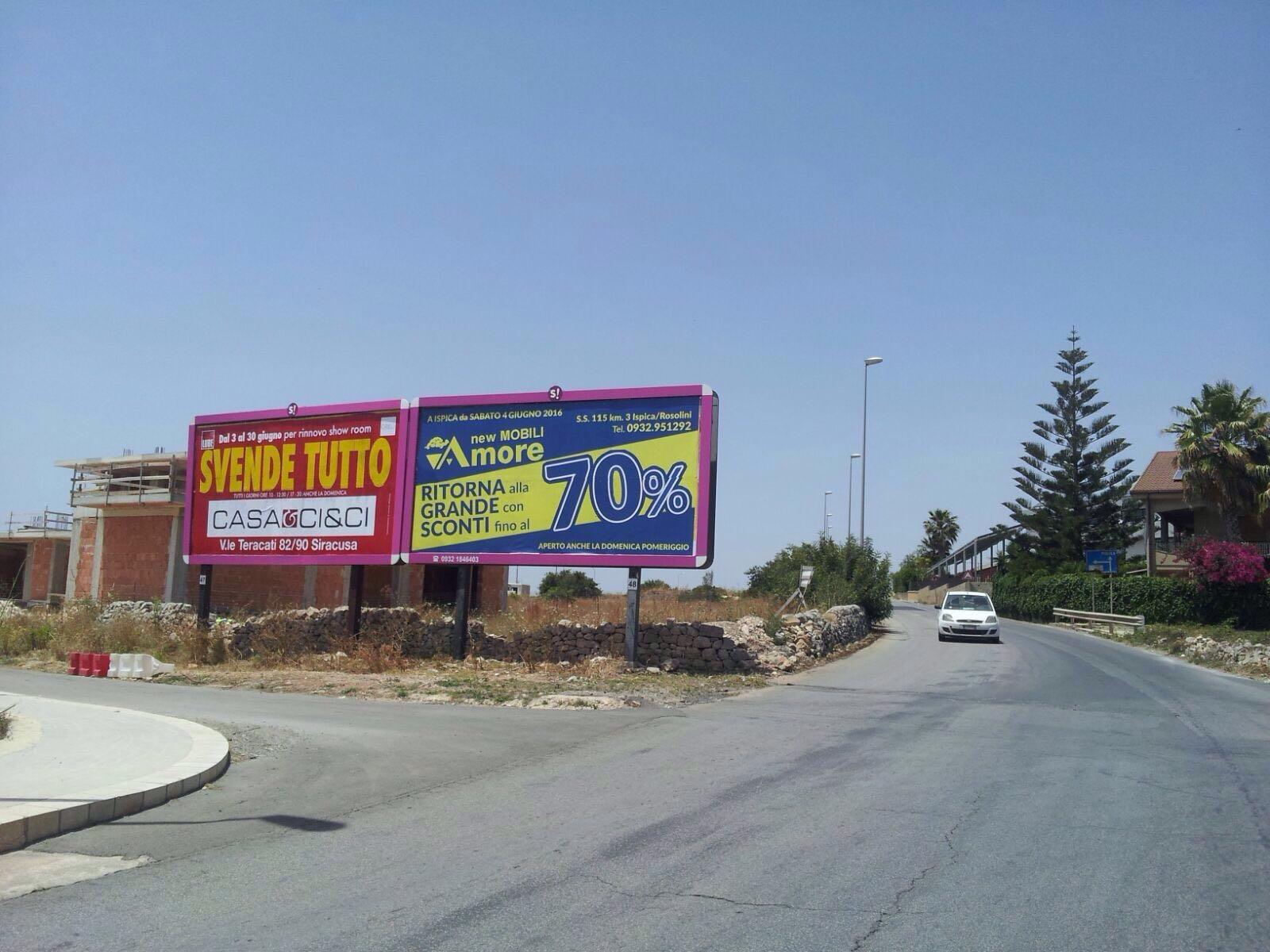 ISPICA impianto pubblicitario 6x3  (prov. Ragusa)