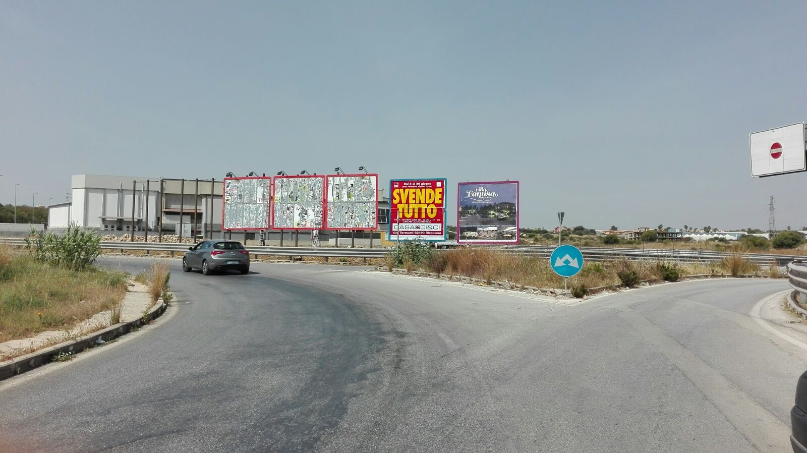 SIRACUSA: MAXIPOSTER 6x6 centro commerciale Auchan