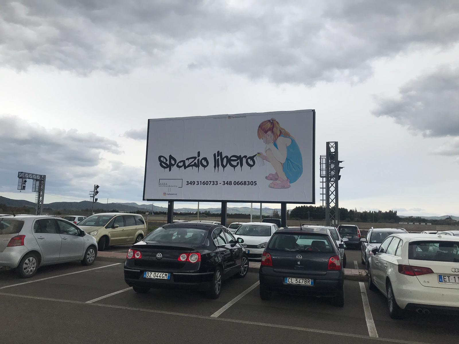 6x3 impianto affissioni per pubblicità esterna a San Gavino Monrele