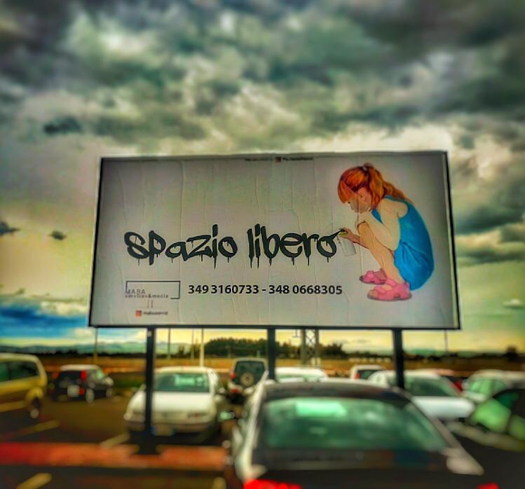 6x3 impianto bifacciale per affissioni pubblicitarie a San Gavino Monreale (Medio Campidano)